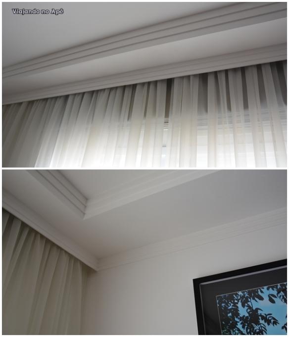 cortineiro cortina voil moldura de gesso