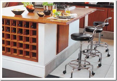 ilha cozinha porta vinhos adega