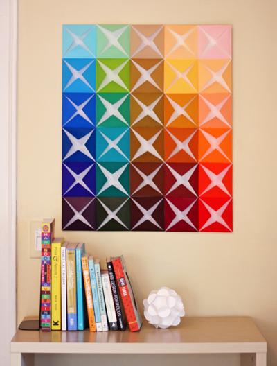 origami decoraçao parede