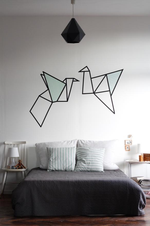 origami tsuru washi tape fita isolante