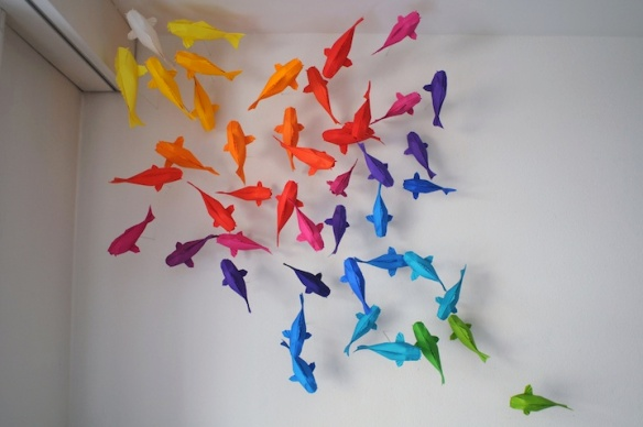 peixes carpas origami
