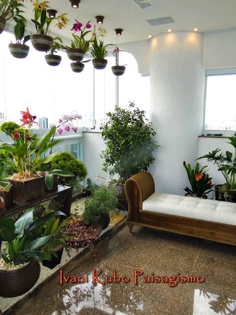 plantas suspensas apartamento sacada varanda ivani kubo