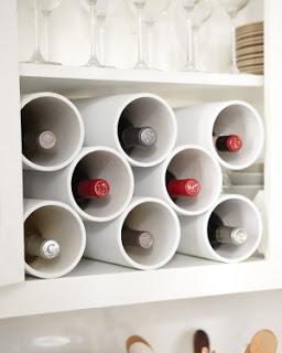 porta vinhos canos pvc