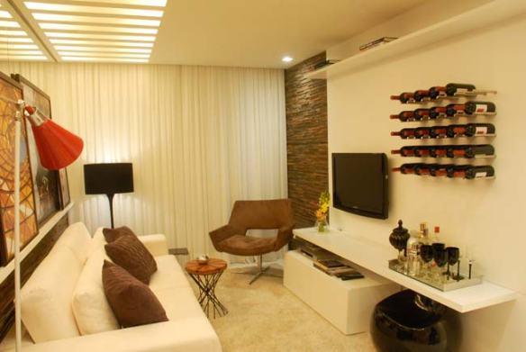porta vinhos parede da tv