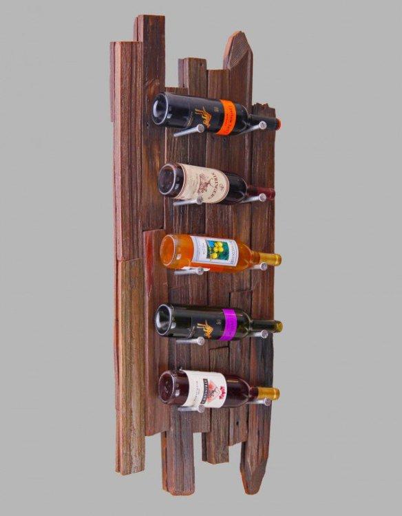 porta vinhos suporte vinhos parede madeira e pregos