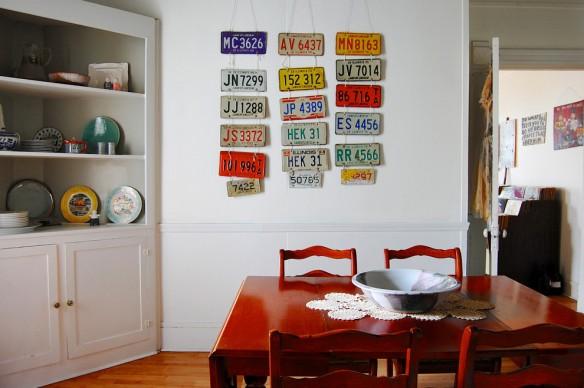 placas de carro decoraçao parede
