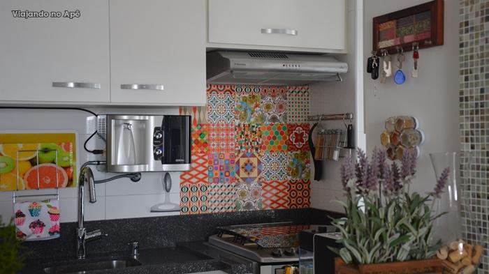 Novidade na cozinha!  Viajando no Ap # Adesivo Para Azulejo De Cozinha Pode Molhar