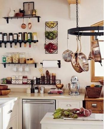 cesto cesta aramada parede fruteira de parede cozinha decoracao porta vinhos