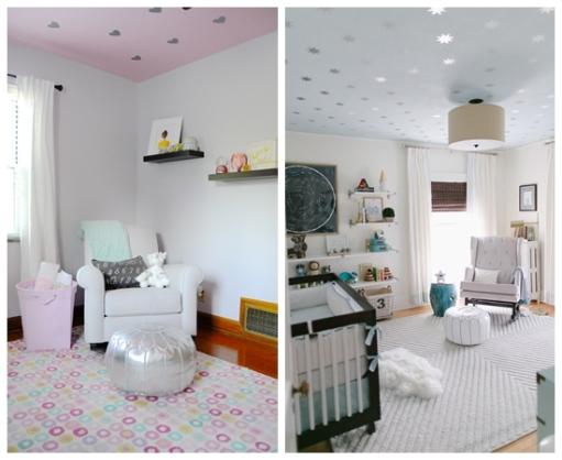quarto bebe menina menino decoracao teto